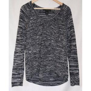 Calvin Klein Long Sleeve Black Gray Tunic Sweater